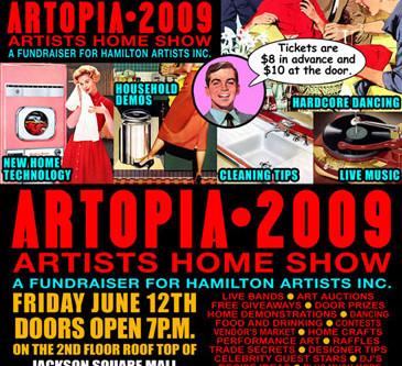 'Artopia 2009': Group Show/ Fundraiser for the Hamilton Artists Inc.