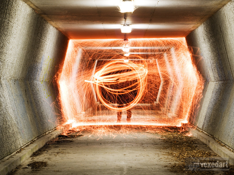 fire and sparks steel wool photos