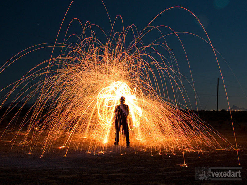 steel wool fire photography | long exposure pictures