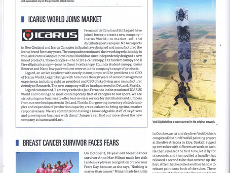 USPA: Parachutist Magazine Publication.