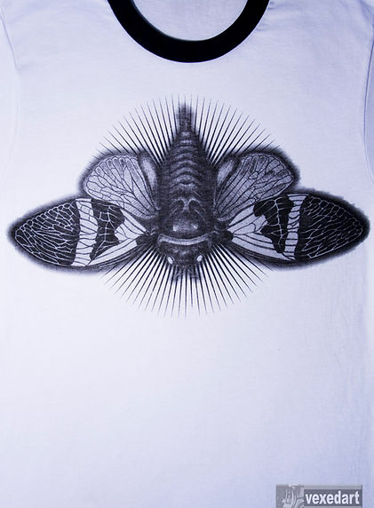 cicada t-shirt design bug shirts