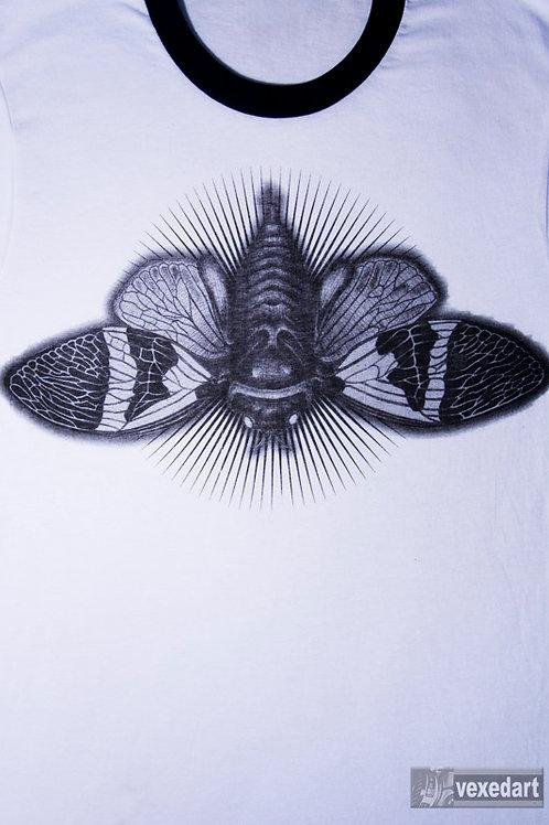 Bug shirt insect design on t-shirt cicada shirt