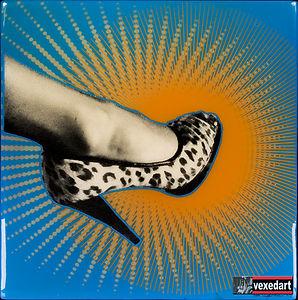 High heel shoe art womans stiletto high