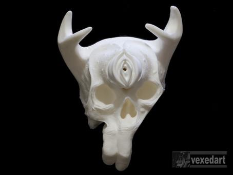 F*Death: White resin cast
