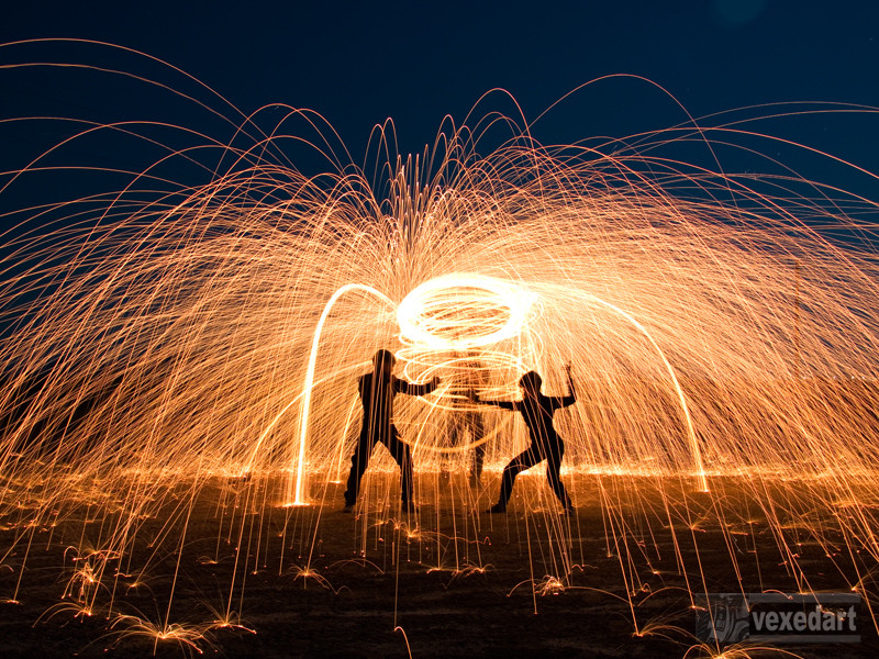 fire pictures, long exposure night photography