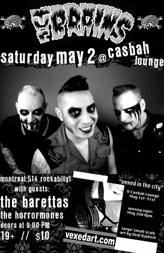The Brains punk band play the Casbah lounge