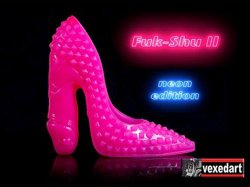 Neon Fuk-Shu II : Silicone Shoe Sculpture