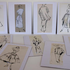 Drawings for  Vogue,  1950s.