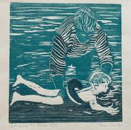 Learning to Swim (unframed) £50.00