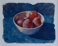 Plums in white bowl 2