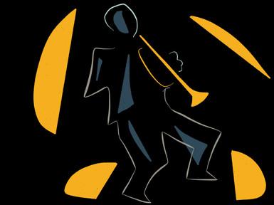 Jazzman with trumpet