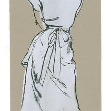 Drawing for  Vogue, 1950s.