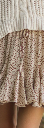leopard ruffle skirtgoldgrey pasley off