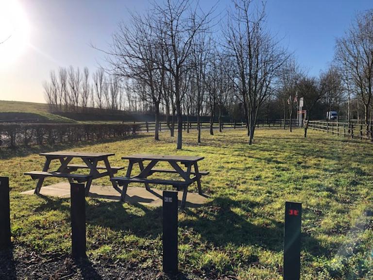 Beautiful picnic area at Red Lodge Karting