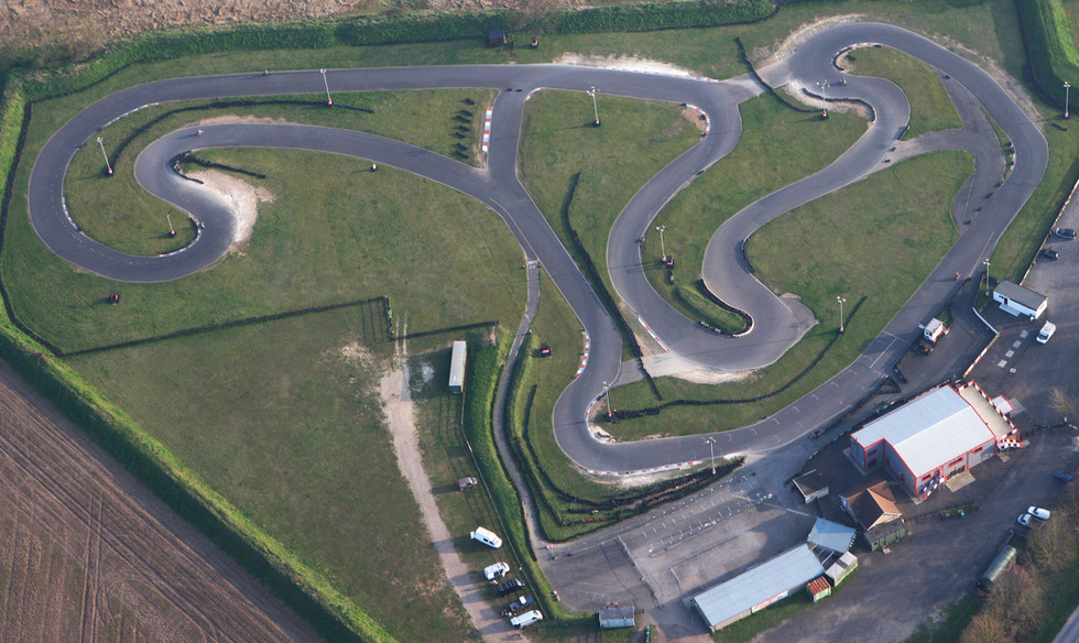Red Lodge Karting aerial view of circuit