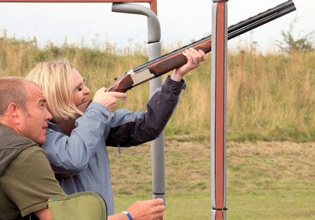 Clay pigeon shooting at Red Lodge Karting