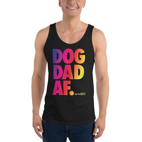Mens Pride Dog Dad AF Unisex Tank Top
