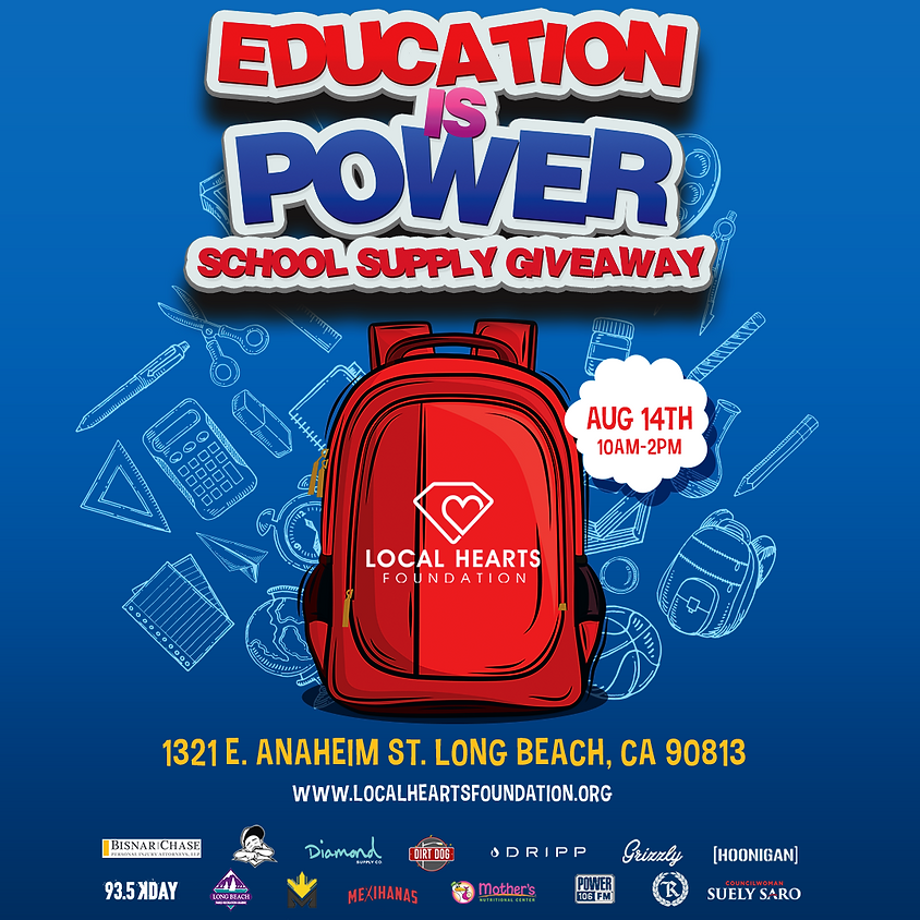 Education is Power School Supply Giveaway