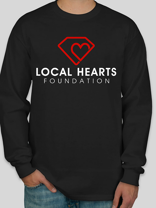 Local Hearts Foundation - T Shirt Black Long Sleeve