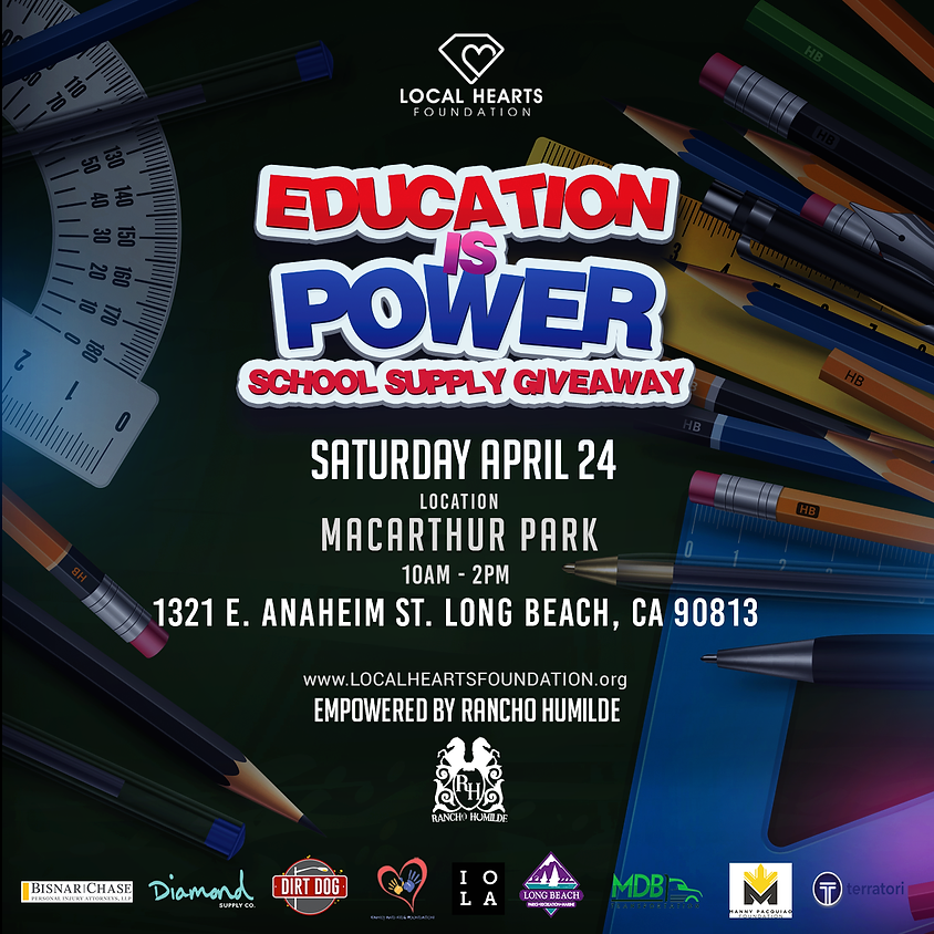 Education is Power - School Supply Giveaway
