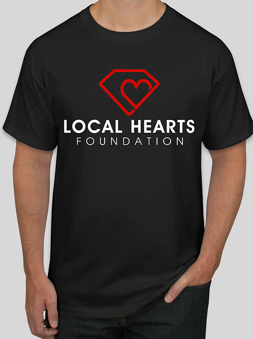 Local Hearts Foundation - Black T Shirt