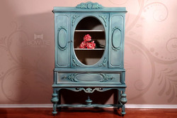 Antique Jacobean style china cabinet