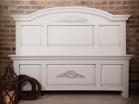 """""""Laurie""""—Classic Chalk Painted Queen Bed"""