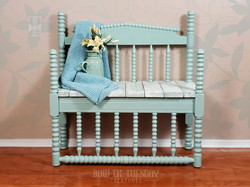 Repurposed Bed Bench