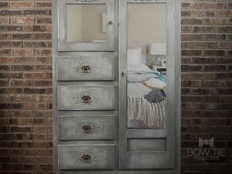 """Karina""—Antique Wardrobe Cabinet"