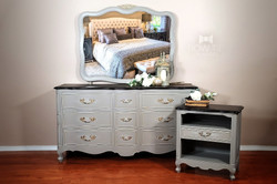 Drexel French Provincial Dresser-Mirror-Night Stand