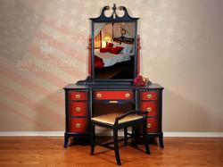 "Gal—""Hickory Furniture Vanity"