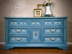 Blue Vintage Stanley Dresser
