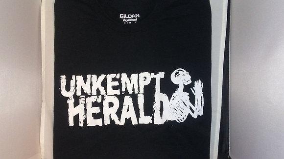 Unkempt Herald logo Black tee