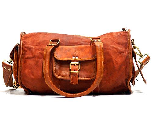 Duffel Travel/Gym Bag in Goat Leather