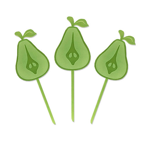 Pear with seed Toppers (set of 12)