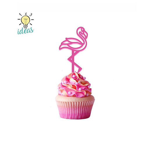 Flamingo Toppers (set of 12)