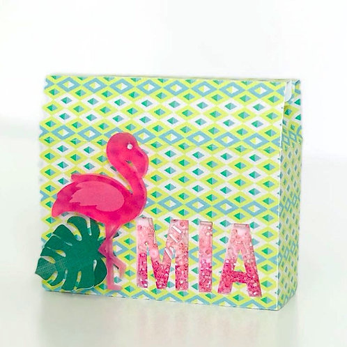Flamingo Appliques  for treat boxes (set of 12)