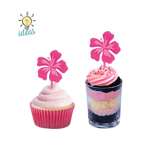 Hibiscus Toppers (set of 12)
