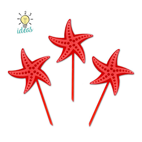 Starfish Toppers (set of 12)