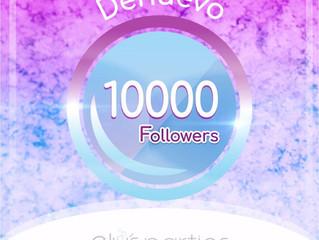 Celebrando nuevamente 10.000 Followers! El mejor ejemplo que el que cae y trabaja duro, se levanta:)