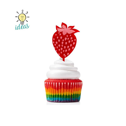 Strawberry Toppers (set of 12)