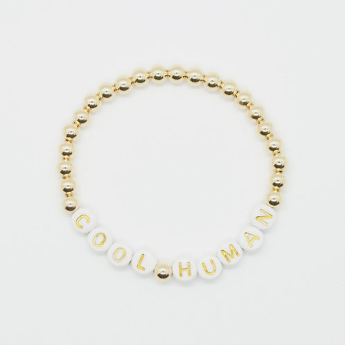 Personalize Your Gold Bead and Letter Bracelet