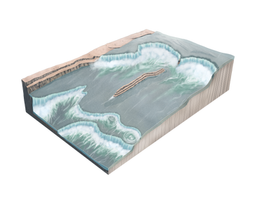 A cross section of Dry Falls during the Pleistocene floods.