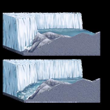 An ice dam collapse.