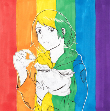 A tribute to LGBTQ characters in the media.