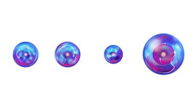 Electron orbitals of Hydrogen, Deuterium, Helium, and Lithium