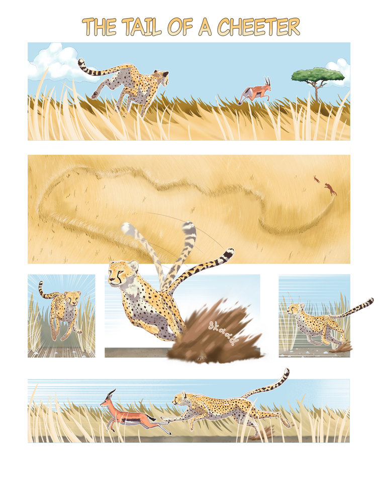 Cheetahs can accelerate faster than a Formula 1 racecar. In addition, their tails act as a rudder to help them make quick pivots to catch their prey. It's not fair.