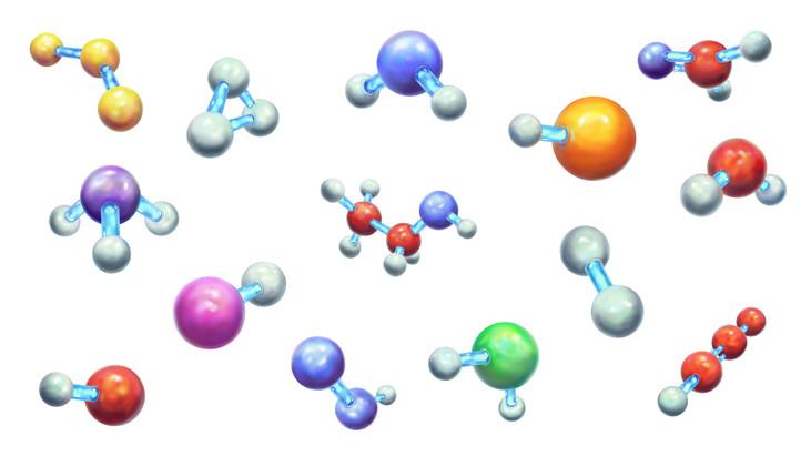 An assortment of molecules