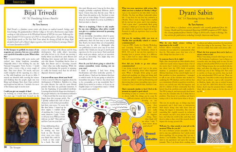 Designed the layout for these two interviews appearing in The Synapse Magazine. Illustration by Maria Altier.