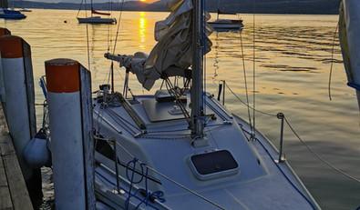Sonnenuntergang beim Weißen Rössl